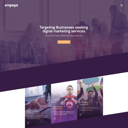 Landingpage for Engage