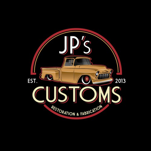 Vintage logo for JP's Customs.