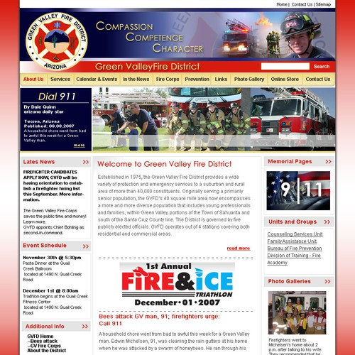 Fire District website