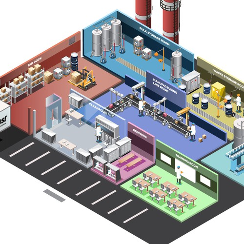 isometric illustration for process expanations