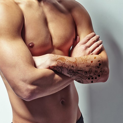Design a full forearm tattoo (no color)!