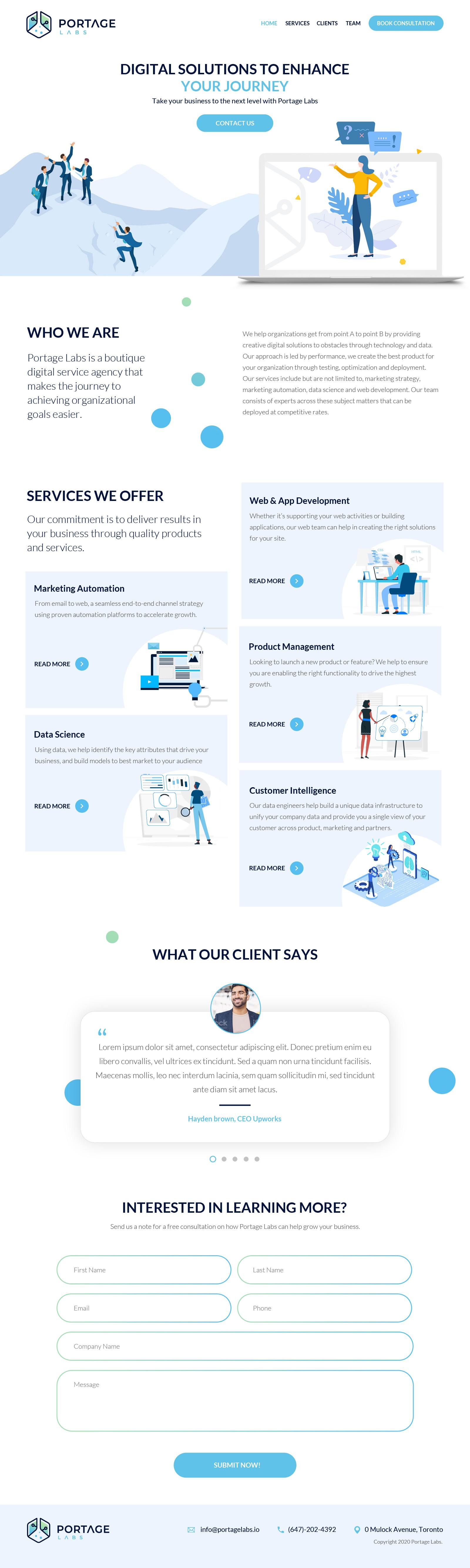 Design website for digital service consultancy