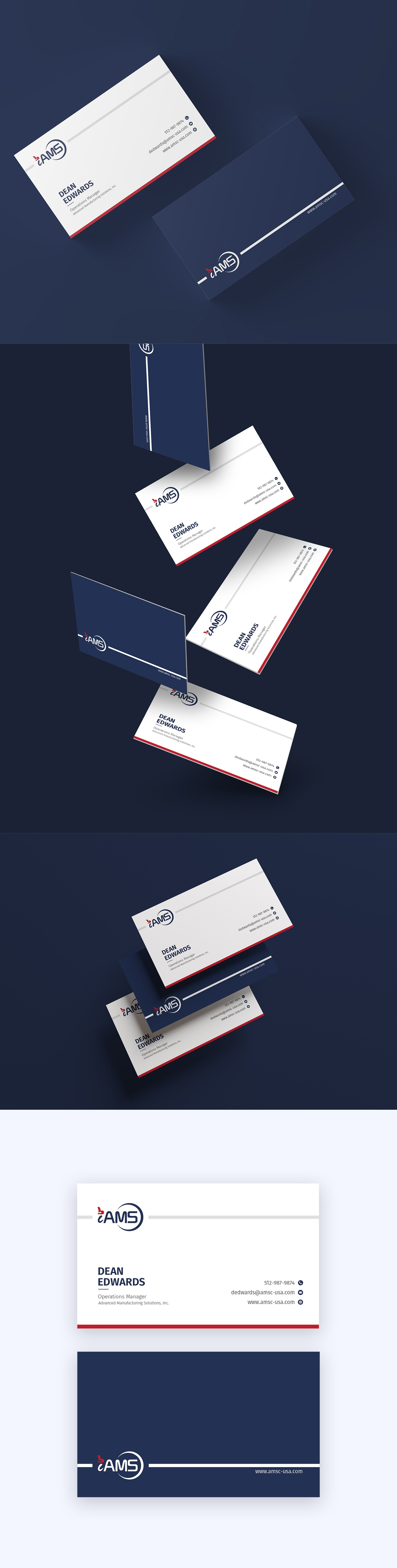 business card for manufacturing and logisitics company
