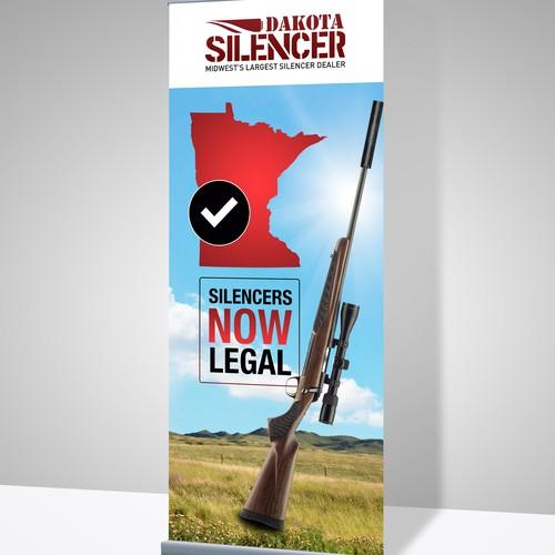 Banner design for Dakota Silencer.