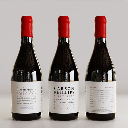 minimal  typographic wine label