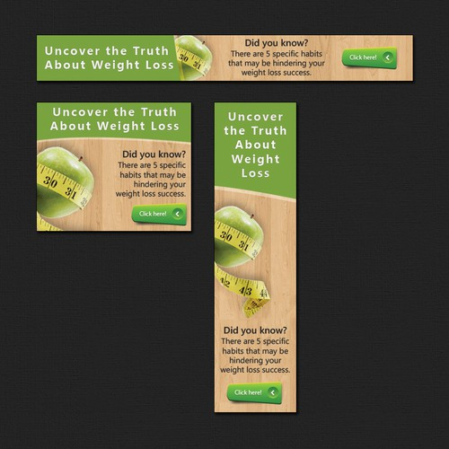Create Banners for Fat Loss for Grownups