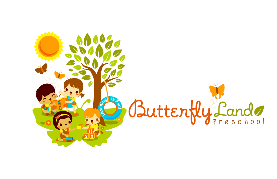 Create the next logo for Butterfly Land Preschool