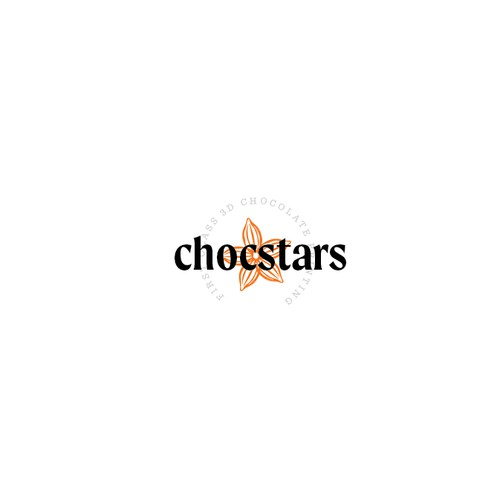 A sophisticated star-based logo for a chocolate manufacturer