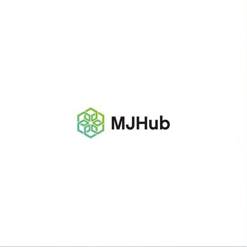 Modern geometric Logo for MJ HUB