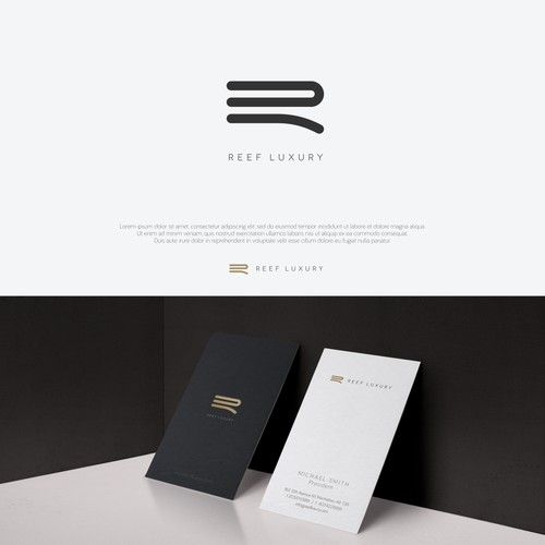 Logo & Business Card for a luxury construction company