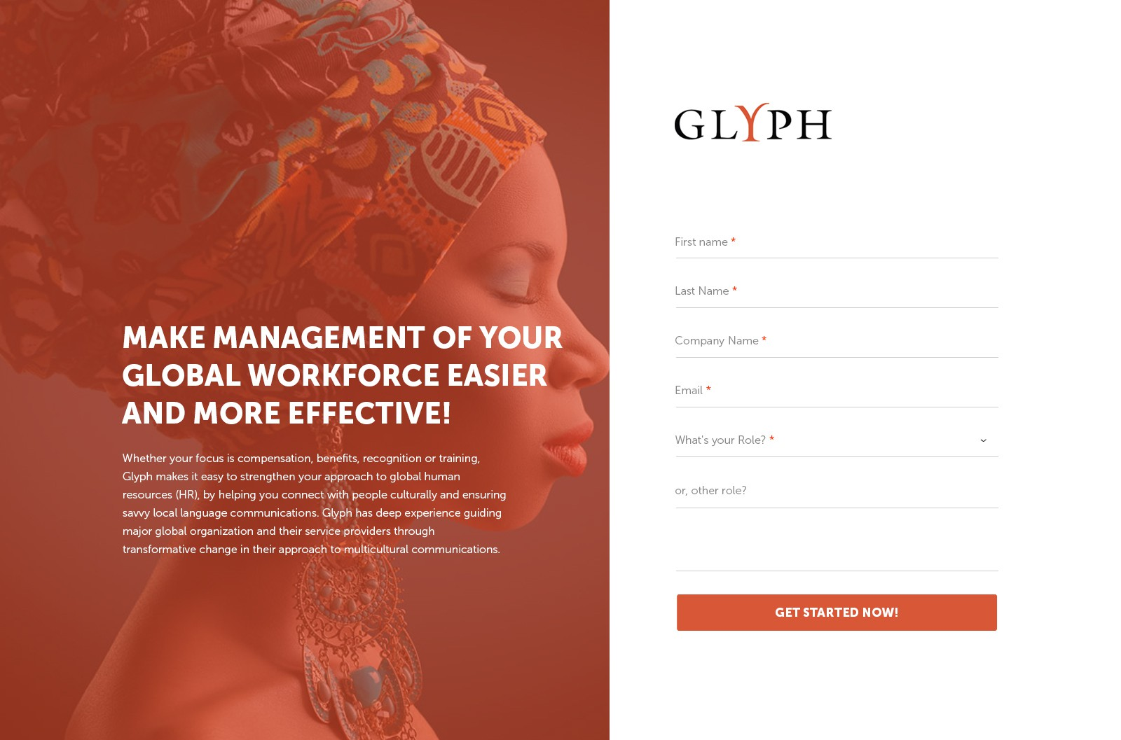 Landing page templates for website