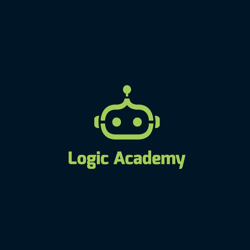 Logo design for Logic Academy that provides after-school and holiday courses to young people interested in programming and robotics.
