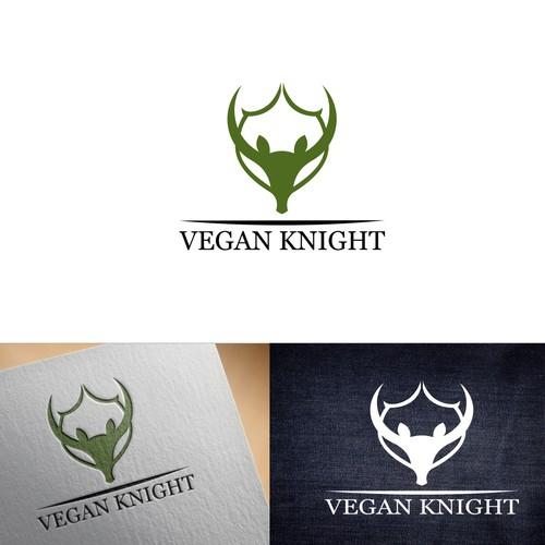 masculine logo vegan knight