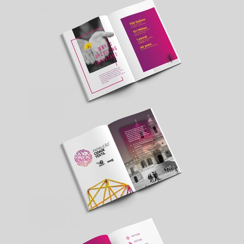 Gradient booklet/ brochure design for scoop.