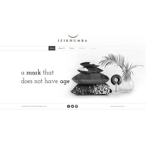 web page design for Izikhumba.