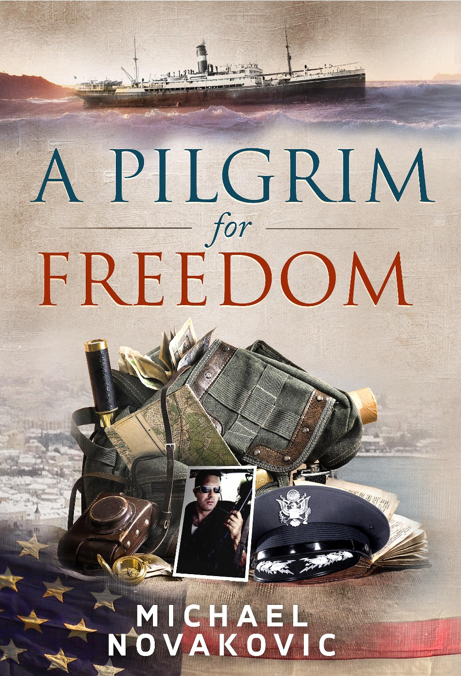 """Book/Dust Cover for """"A Pilgrim for Freedom"""""""