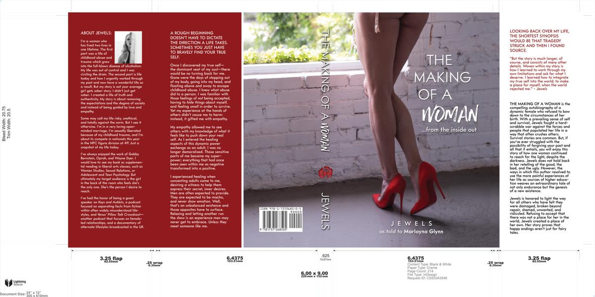 Hardback cover for book