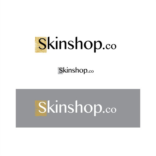 A logo design for a skincare products website