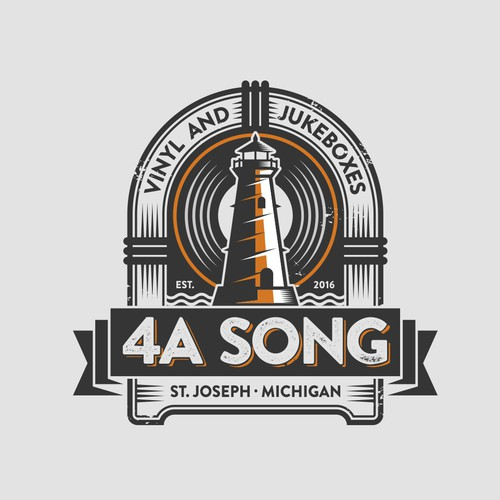 4A Song Logo - Vinyl and Jukeboxes