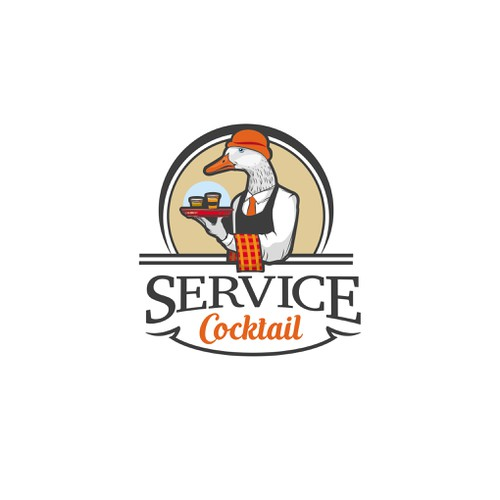 Logo for a service cocktail company