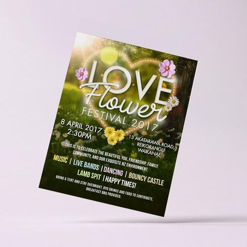 Love Flower Festival Flyer
