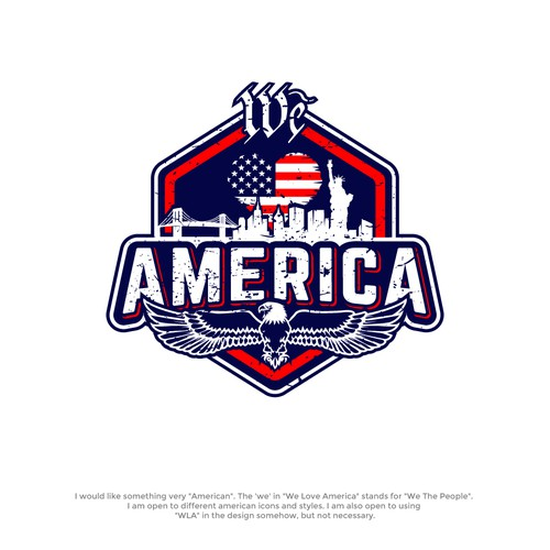 We Love America Logo design