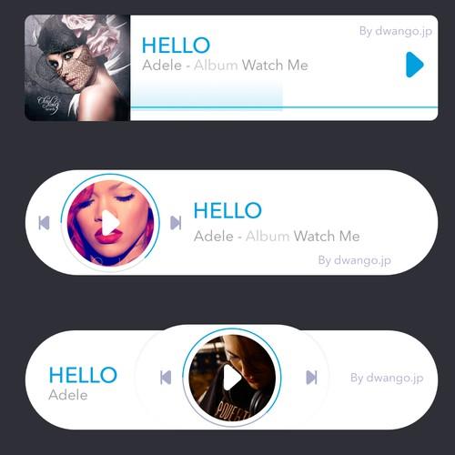 music controller notification widget