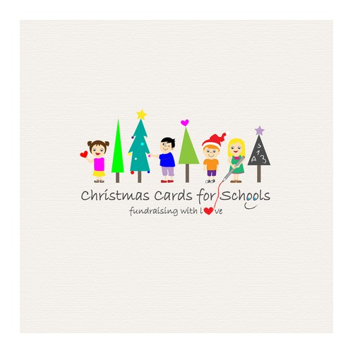 Use your artistic talents to create a playful logo for Christmas Cards for Schools