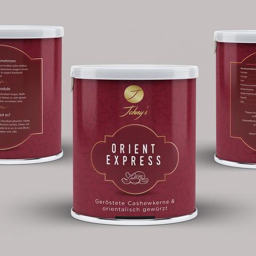 Cooles Dosen Design für Johny's Cashew Nüsse