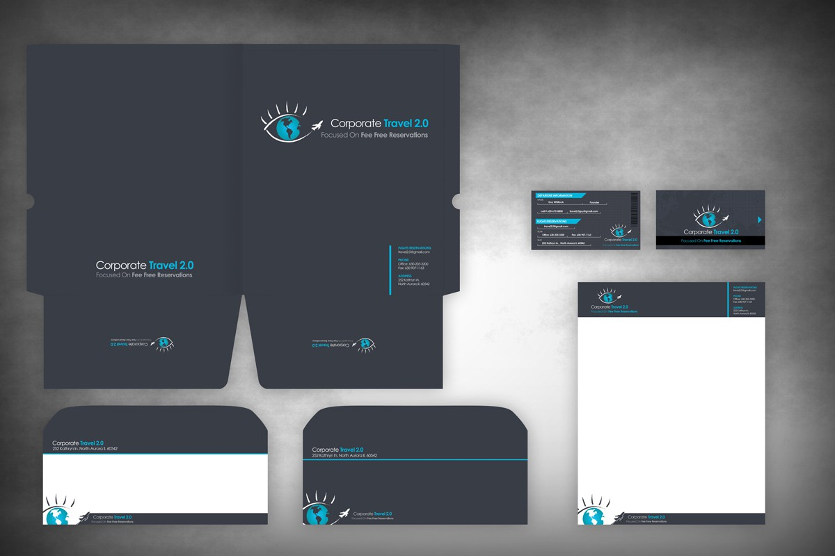 """Corporate Travel 2.0 Business Cards designed like """"AIRLINE TICKETS"""" !!! and letterhead"""