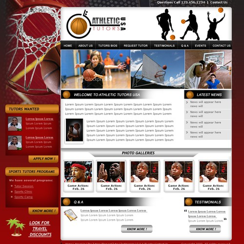 Website Design (no coding) Athletic Tutoring-Guranteed Winner