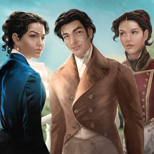 Gender-swapped Illustration of Pride and Prejudice Characters