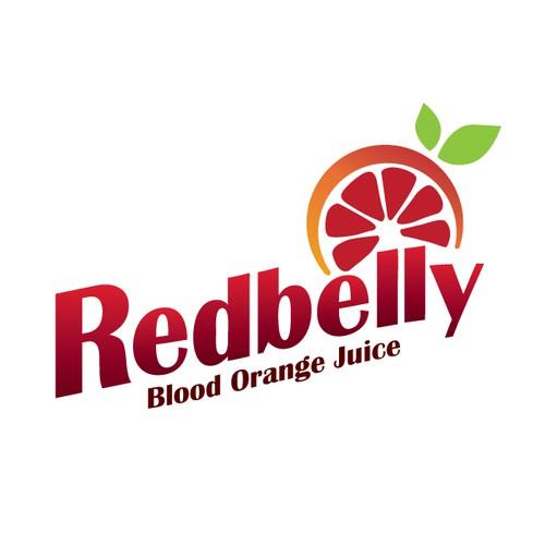 Logo for blood orange juice products
