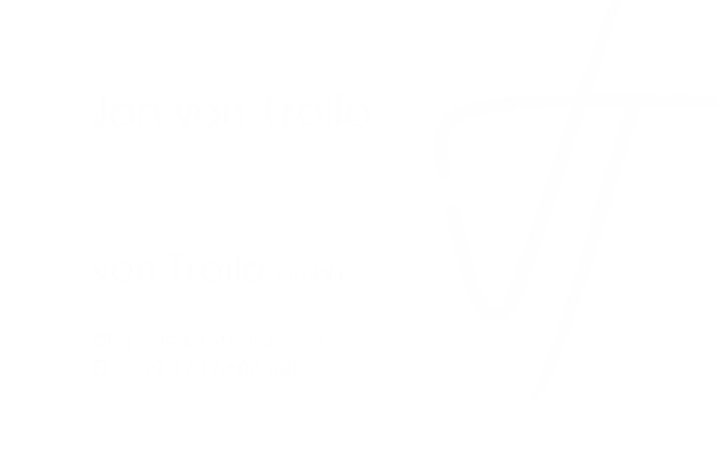 Two versions of a business card with the logo you made before