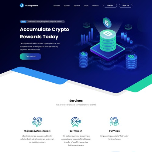 Crypto Wordpress Design/Re-Design