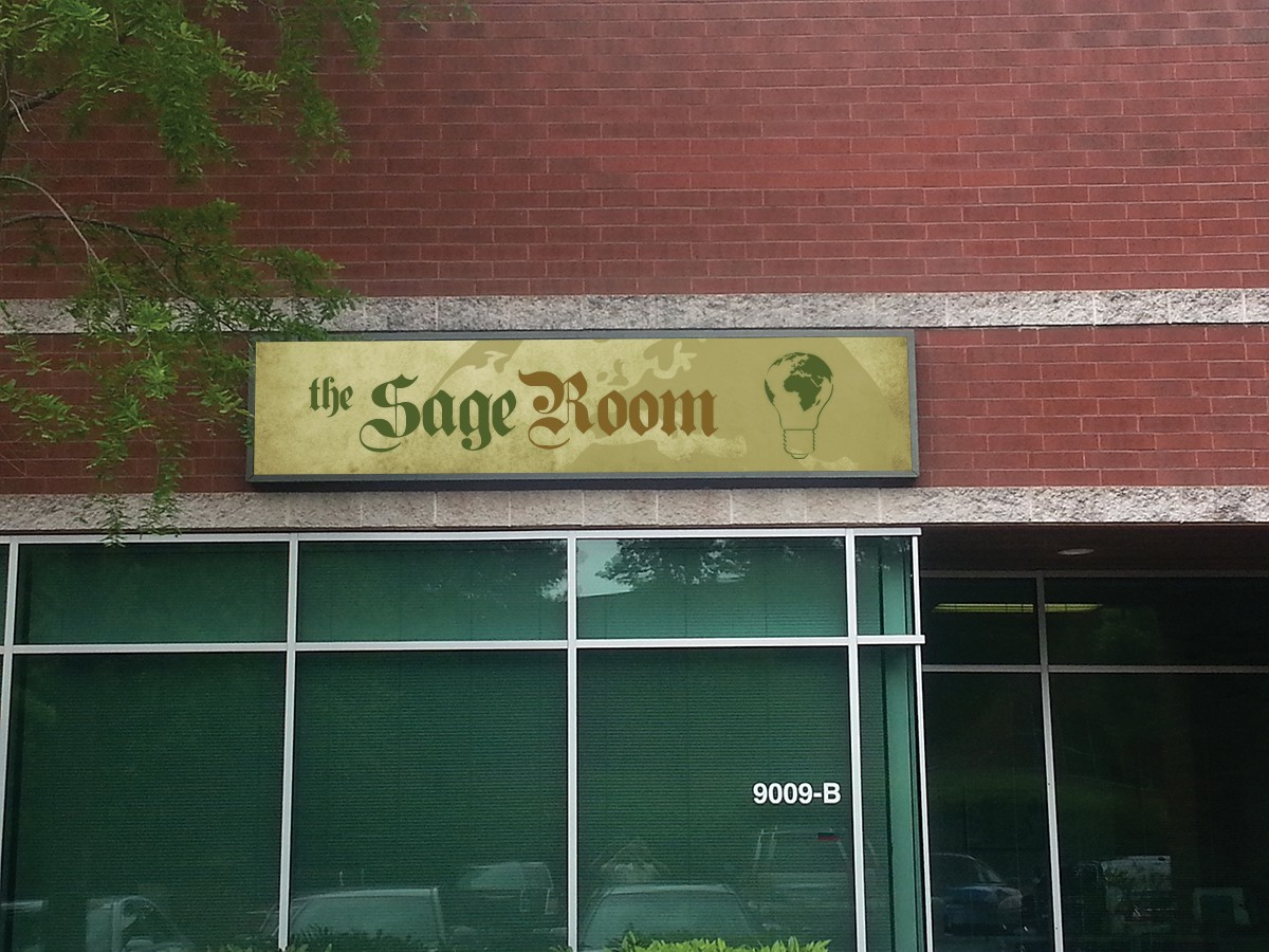signage for The Sage Room