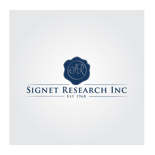 Create a Logo for a Market Research Firm that incorporates a signet seal