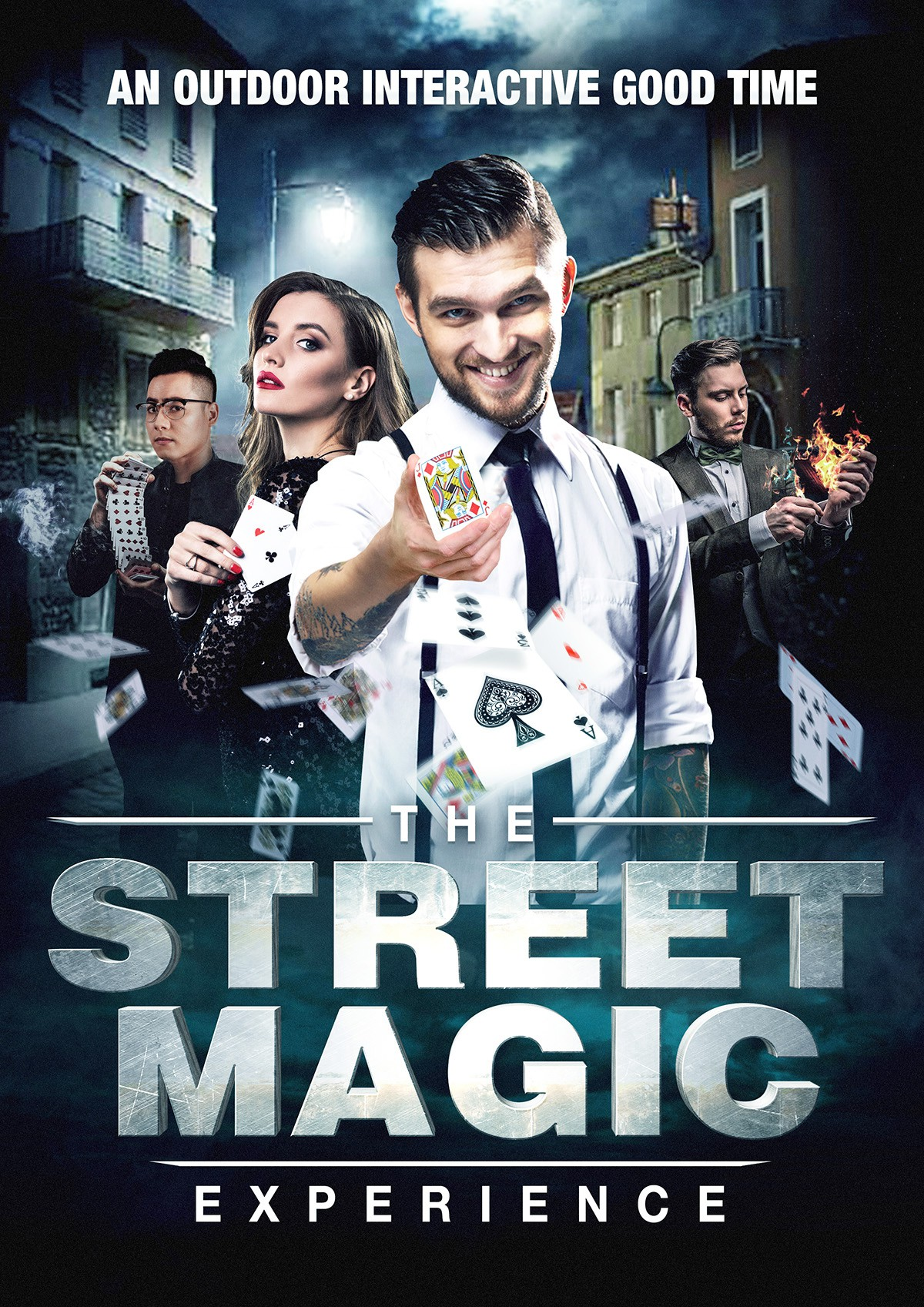 Design a poster for a hipster street magic experience