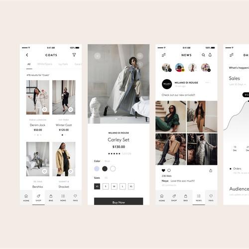 E-commerce Fashion App Design
