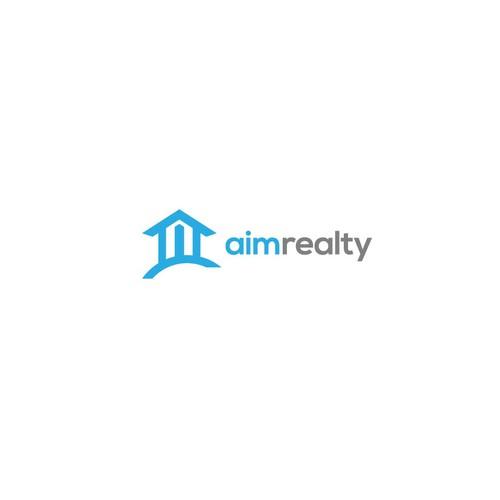 logo design concept for aim realty