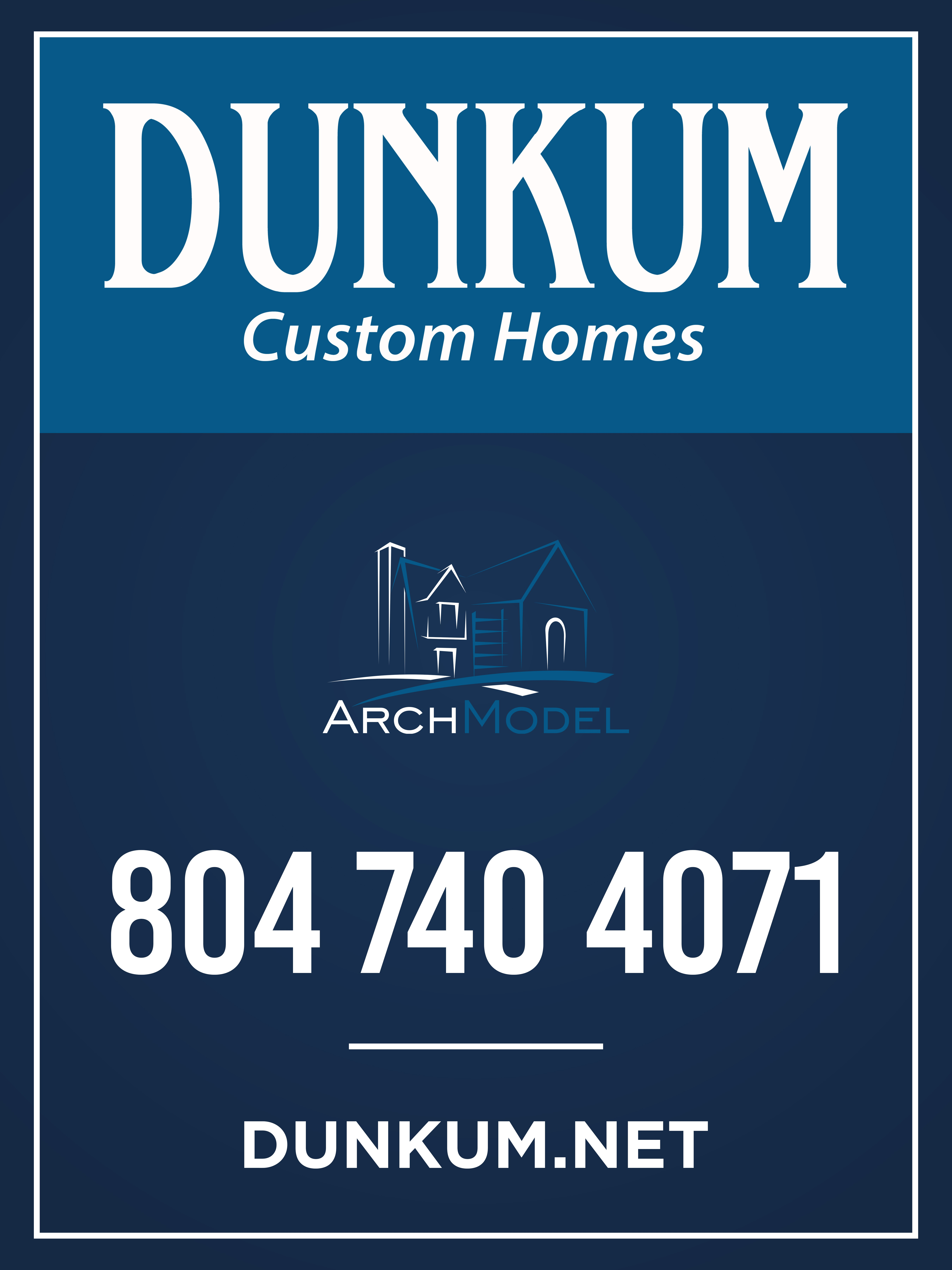 Design a sign for high end residential construction company