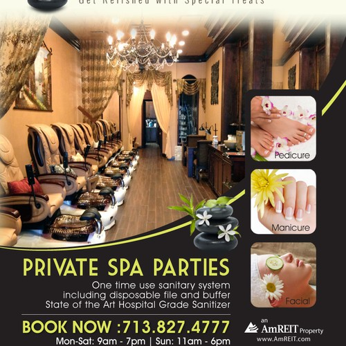 Create an ad for Royal Retreat Pedispa