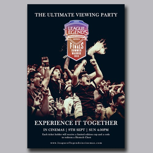 Cinema Poster design for eSports Event