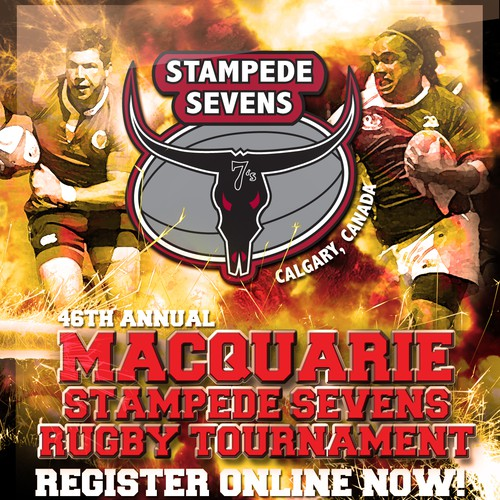 Poster wanted for Macquarie Stampede Sevens Rugby Tournament