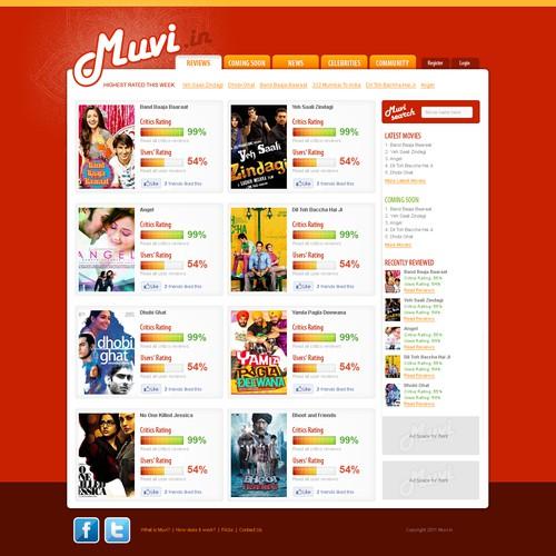 Unique Movie Review Website