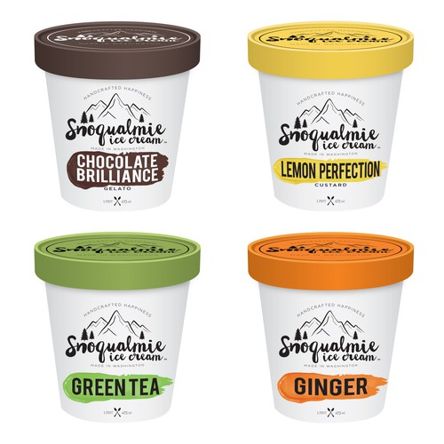 Packaging design for Washington based Ice Cream company