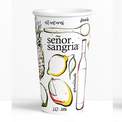 Señor Sangria Drinking Cup