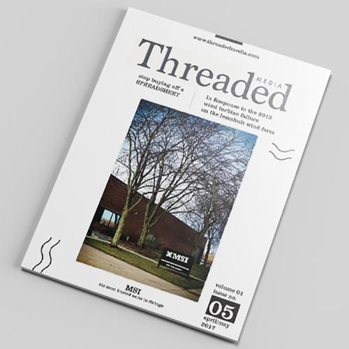 Magazine cover concept for Threaded Media