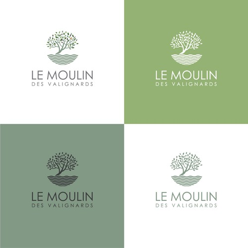 simple logo concept for LE MOULIN des valignards.