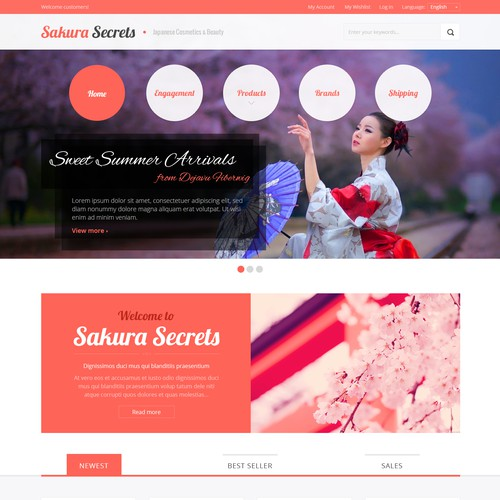 Cosmetics/Beauty [Web Design]